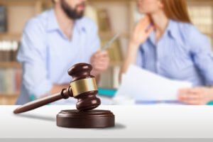 couple engaged in divorce mediation