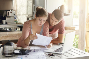 couple thinking about bankruptcy